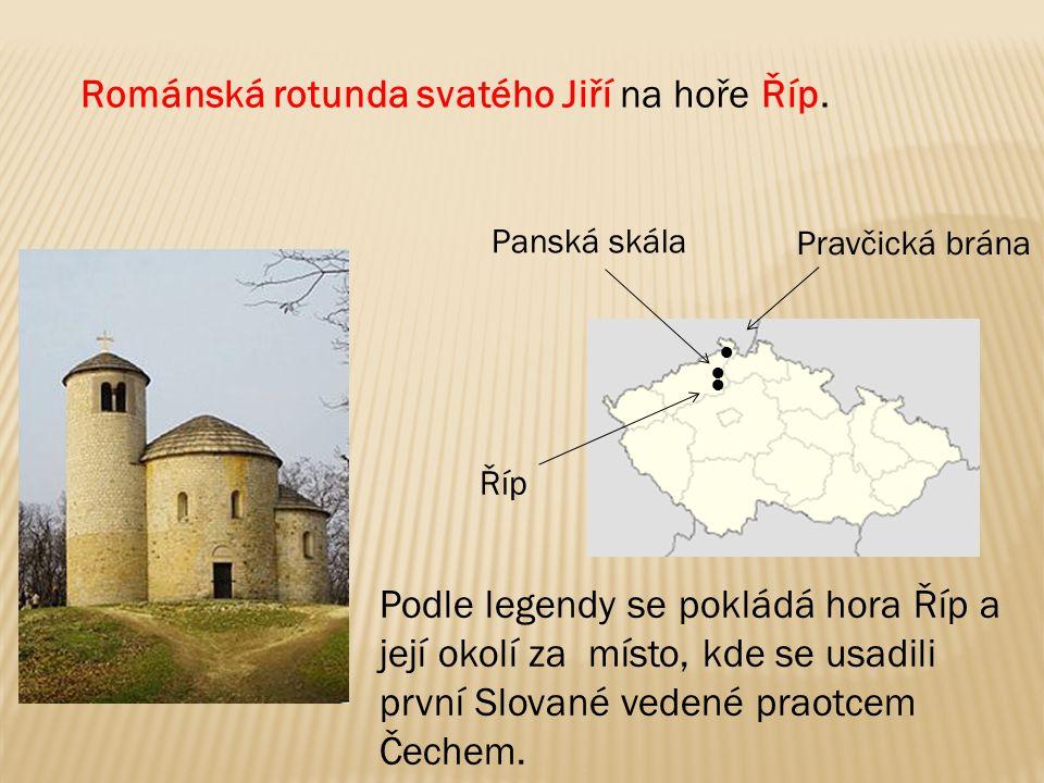 Románská rotunda svatého Jiří na hoře Říp.