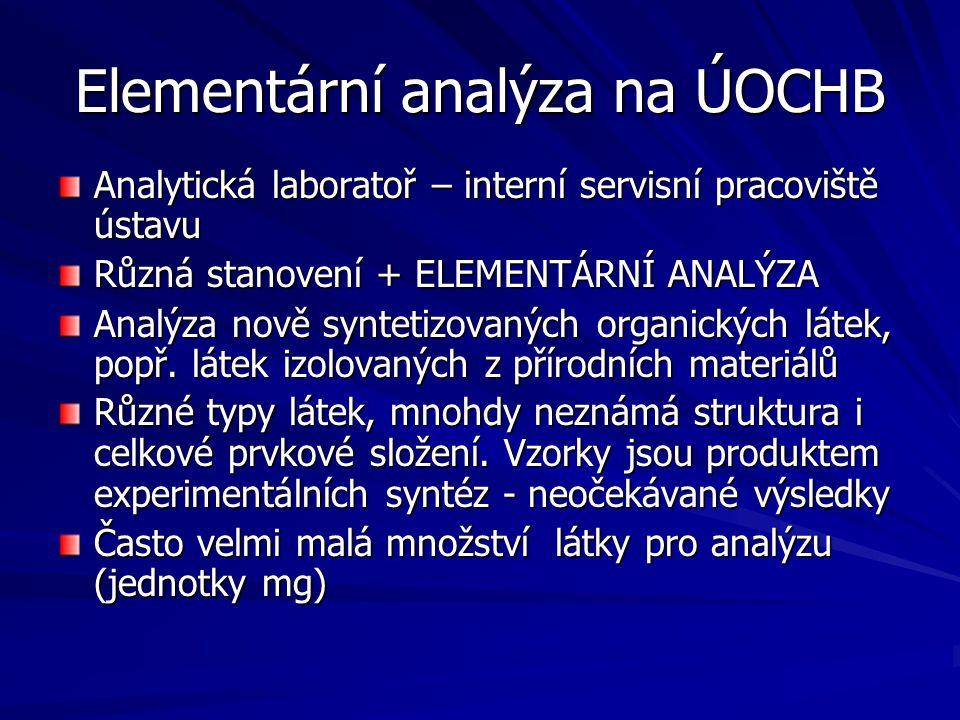 Elementární analýza na ÚOCHB