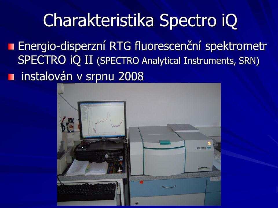 Charakteristika Spectro iQ