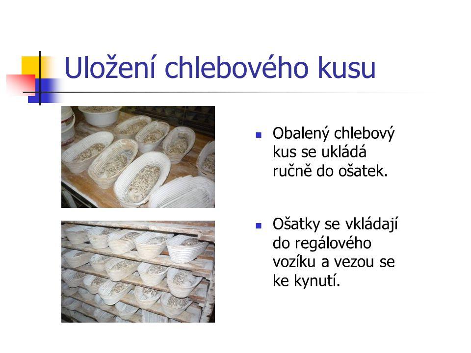 Uložení chlebového kusu