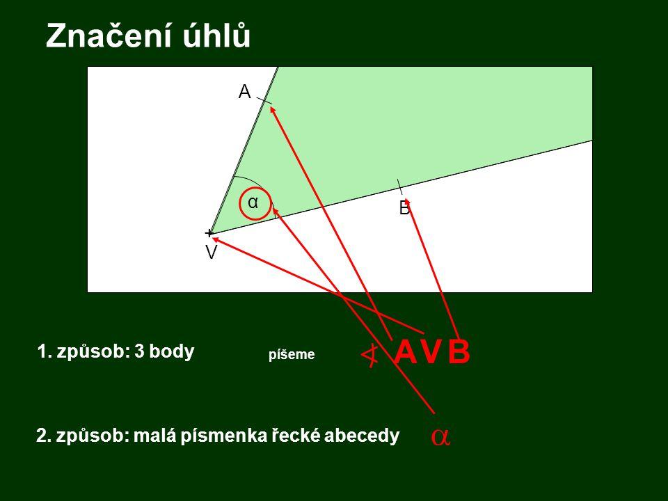 2. způsob: malá písmenka řecké abecedy