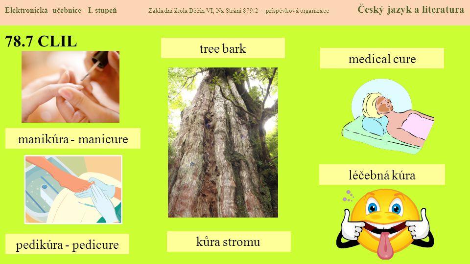 78.7 CLIL tree bark medical cure manikúra - manicure léčebná kúra