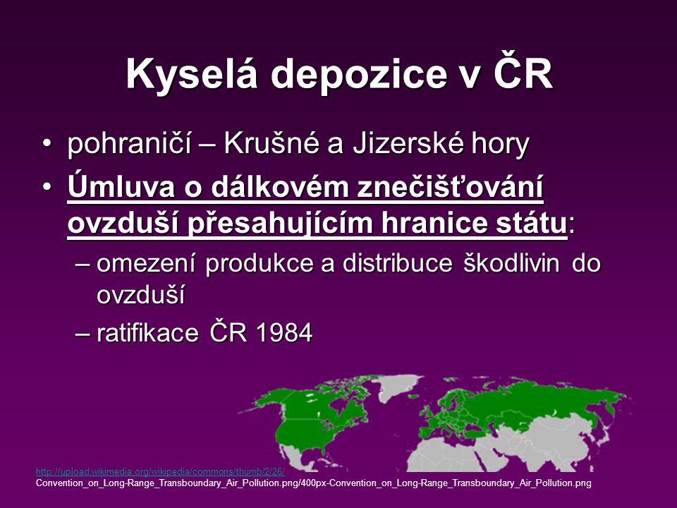 Kyselá depozice v ČR pohraničí – Krušné a Jizerské hory