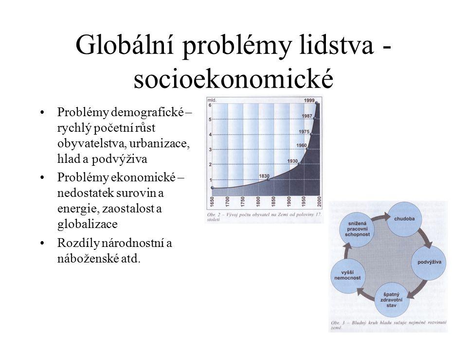 Globální problémy lidstva - socioekonomické