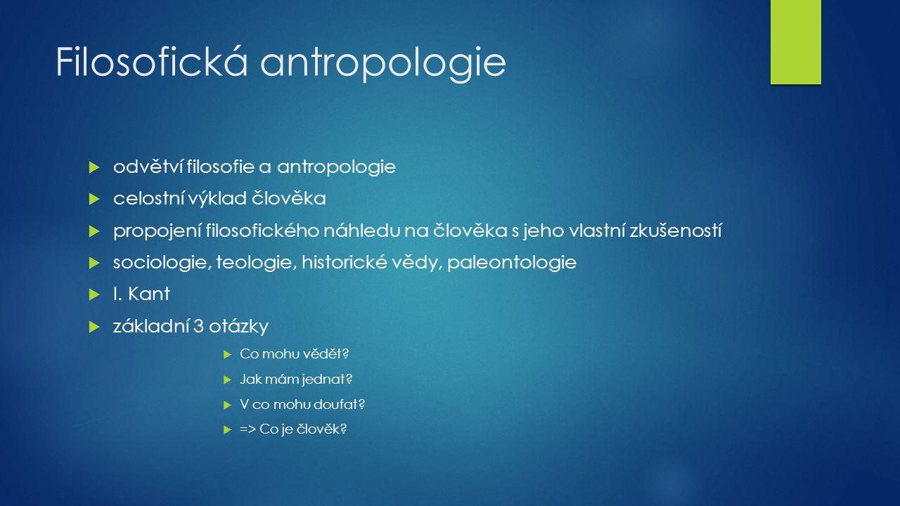 Filosofická antropologie