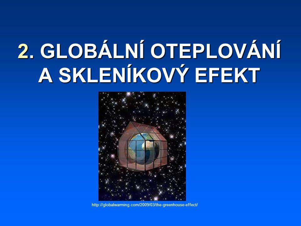 2. GLOBÁLNÍ OTEPLOVÁNÍ A SKLENÍKOVÝ EFEKT