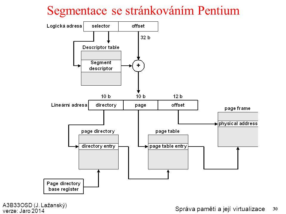 Segmentace se stránkováním Pentium