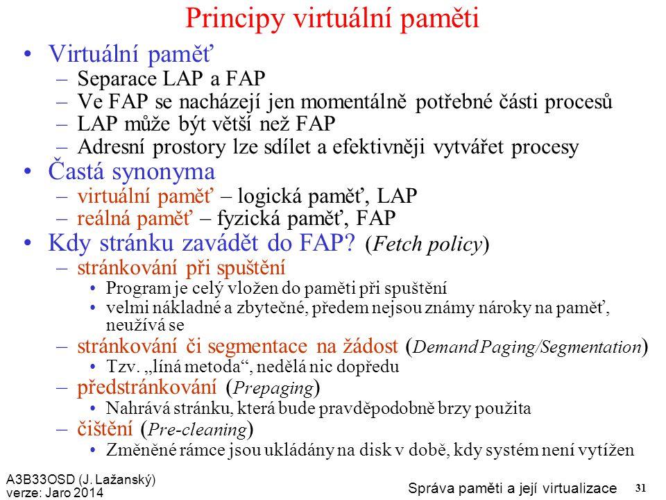Principy virtuální paměti
