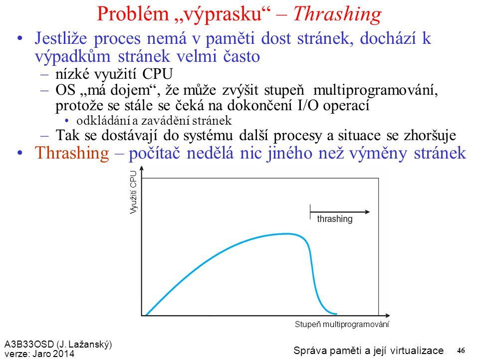 "Problém ""výprasku – Thrashing"