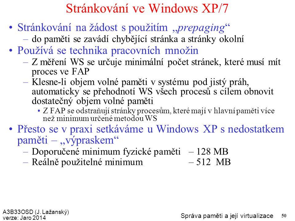 Stránkování ve Windows XP/7