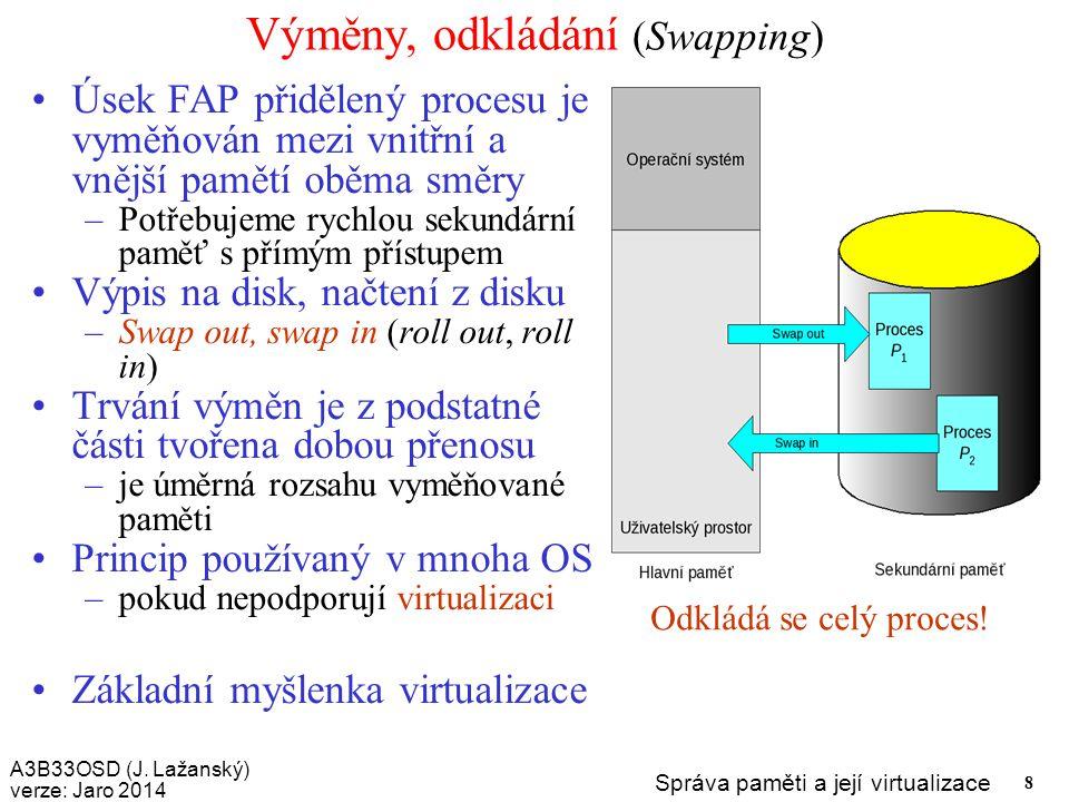Výměny, odkládání (Swapping)