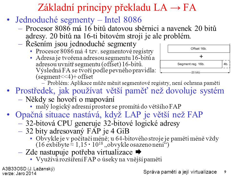 Základní principy překladu LA → FA