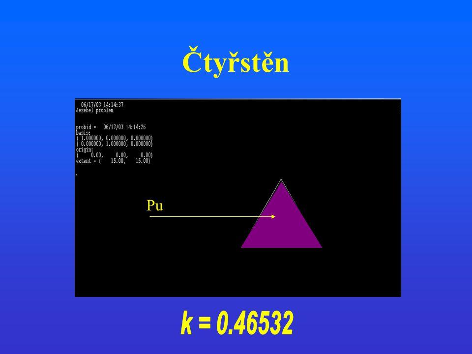 Čtyřstěn Pu k = 0.46532