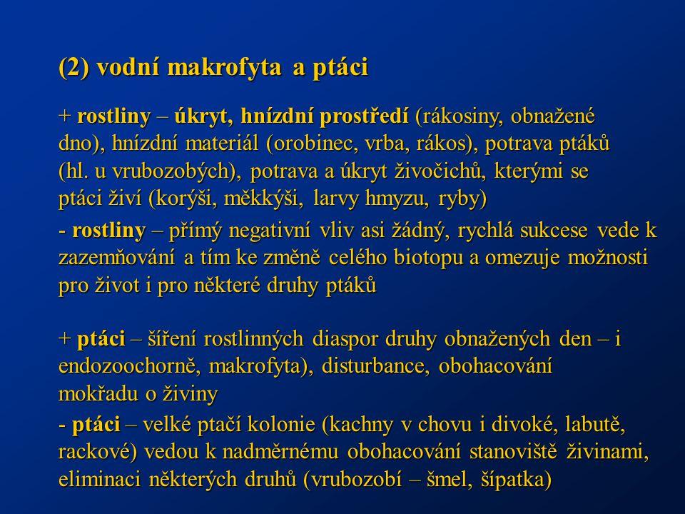 (2) vodní makrofyta a ptáci