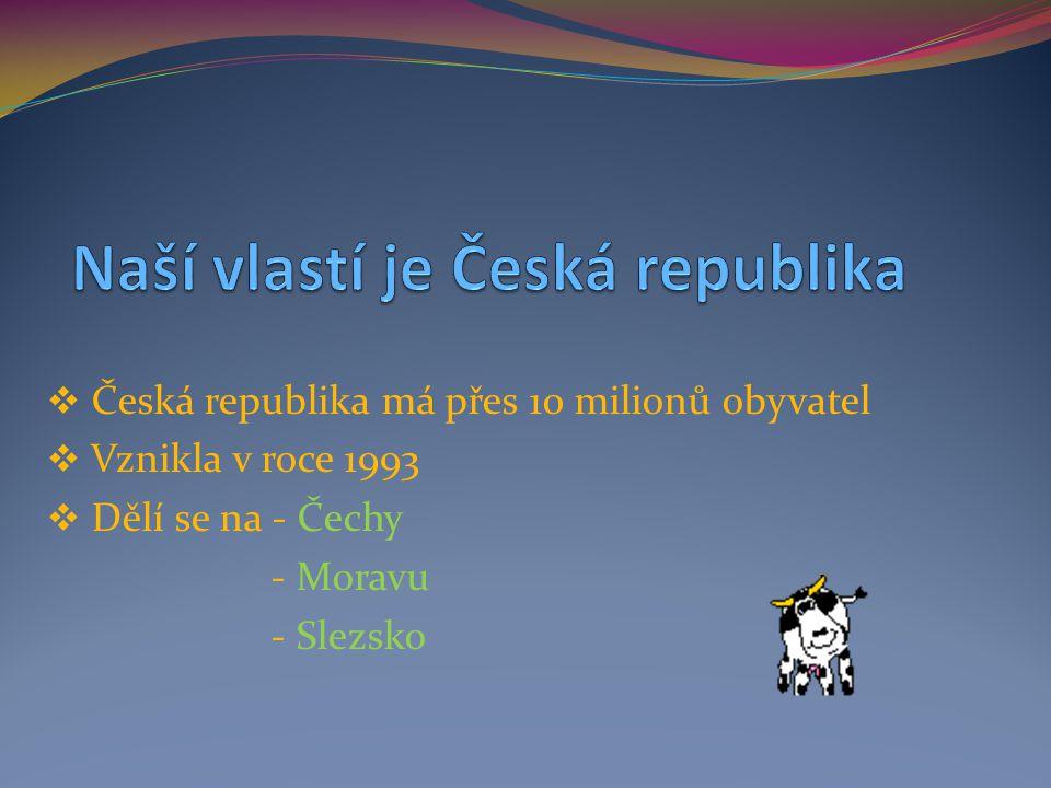 Naší vlastí je Česká republika