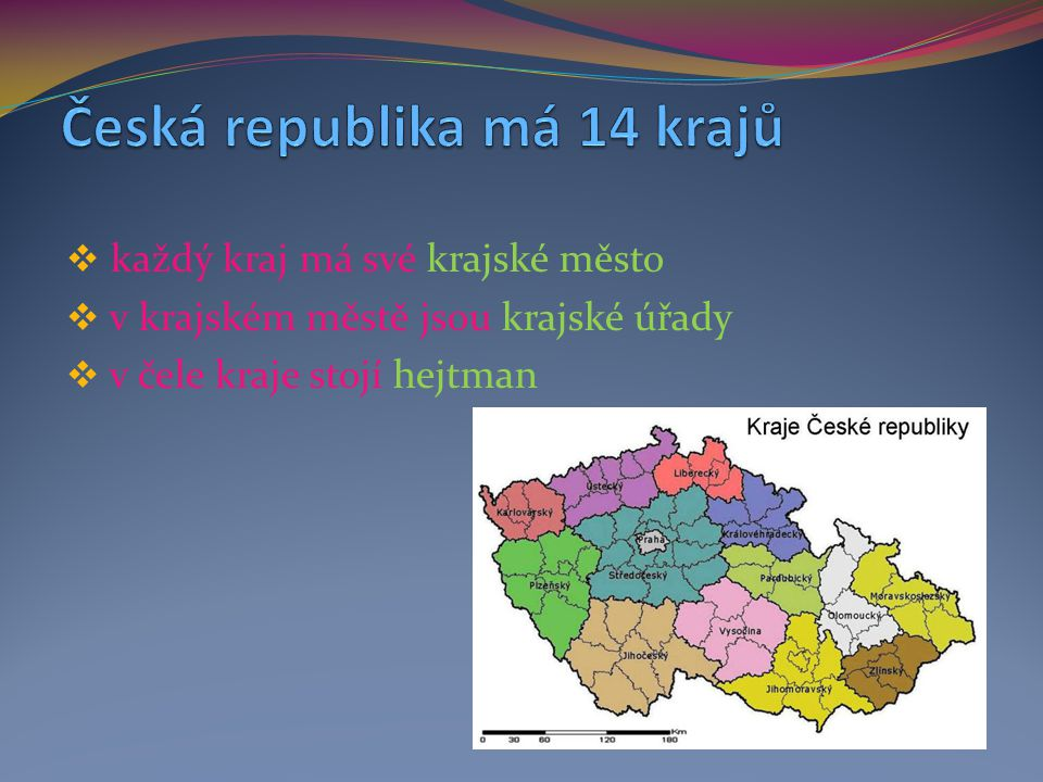 Česká republika má 14 krajů