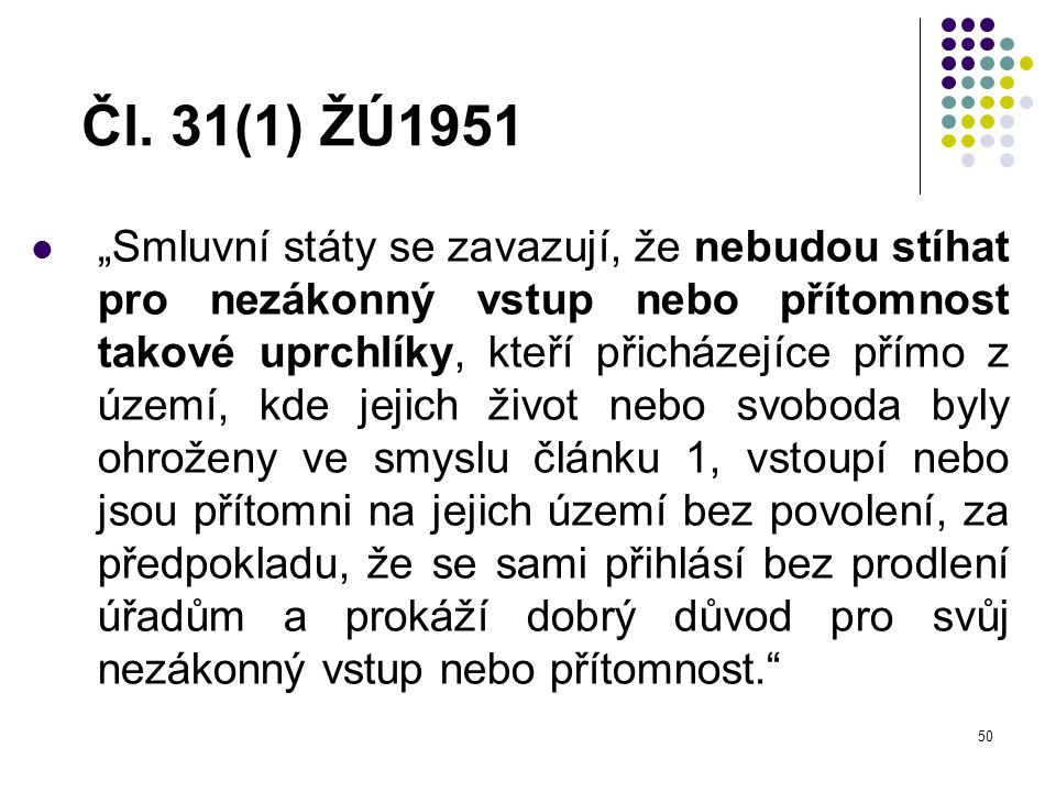 Čl. 31(1) ŽÚ1951