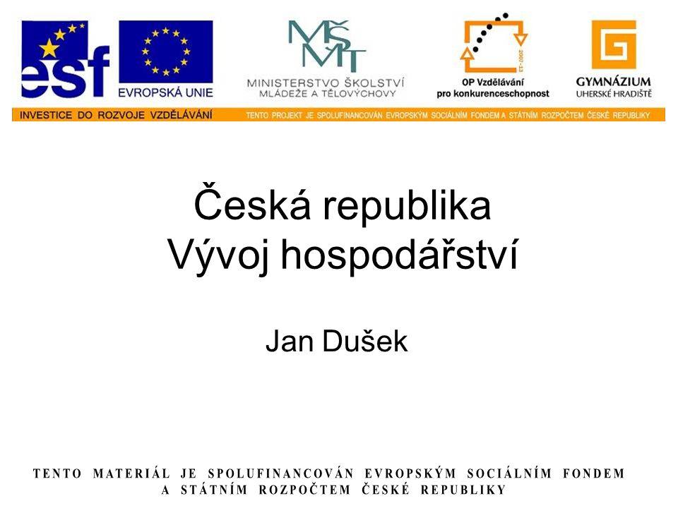 Česká republika Vývoj hospodářství