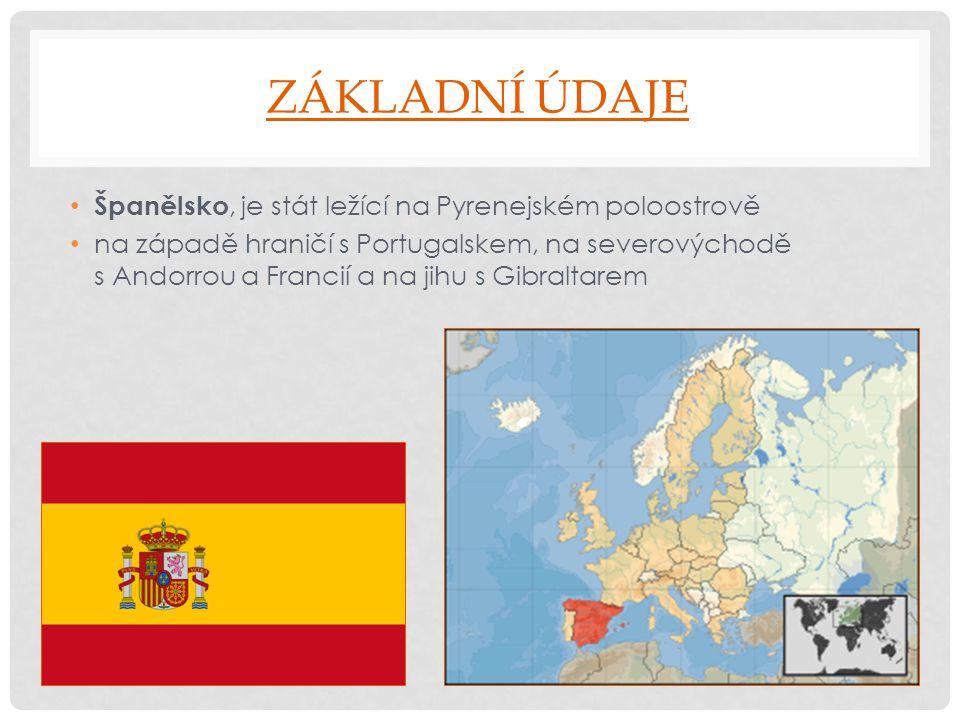 Základní údaje Španělsko, je stát ležící na Pyrenejském poloostrově