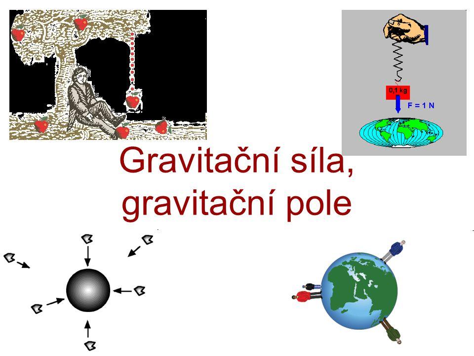 Gravitační síla, gravitační pole