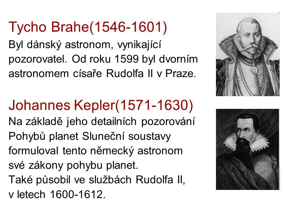 Tycho Brahe(1546-1601) Johannes Kepler(1571-1630)