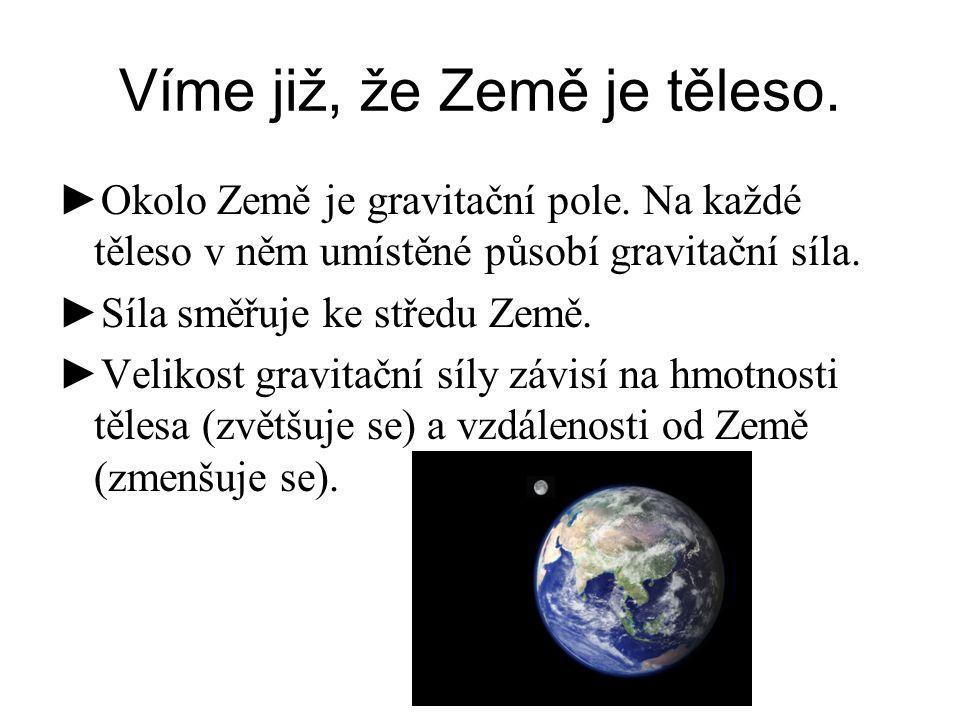 Víme již, že Země je těleso.