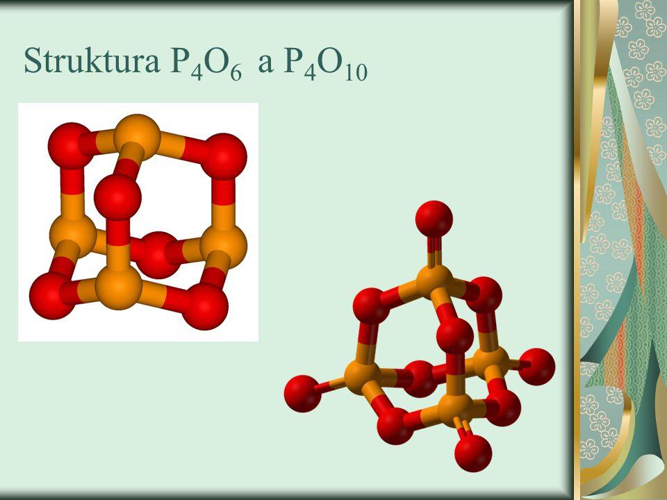Struktura P4O6 a P4O10