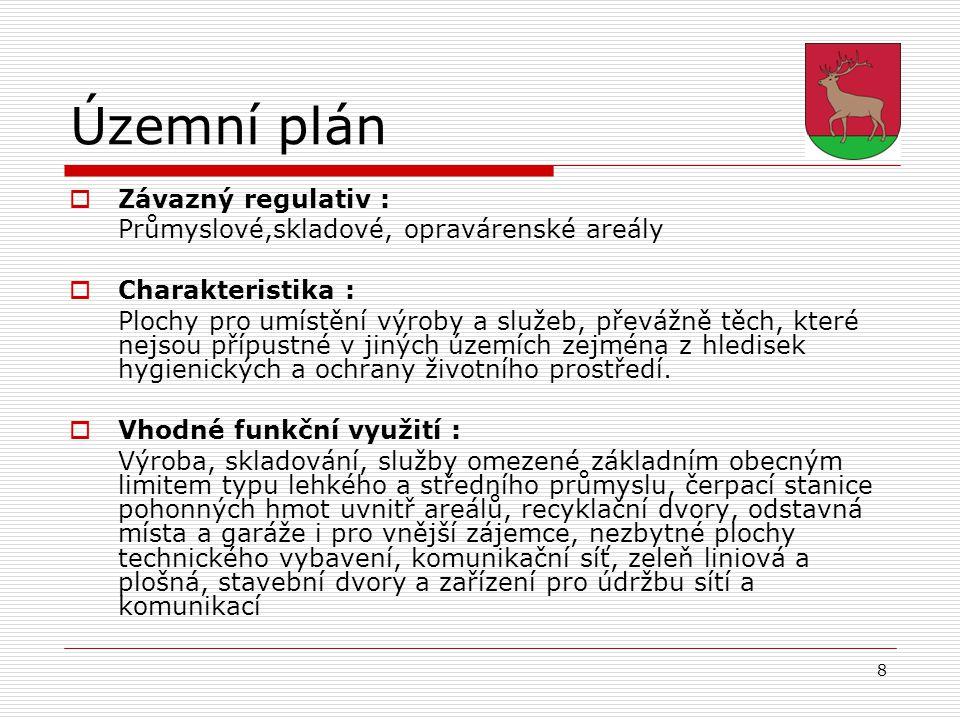 Územní plán Závazný regulativ :