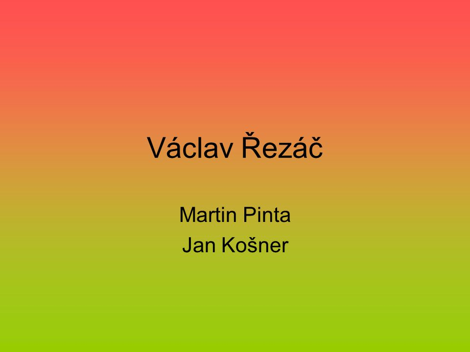 Martin Pinta Jan Košner