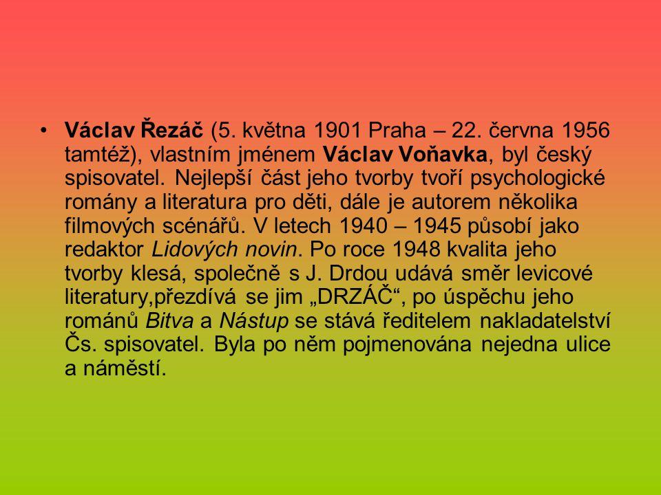Václav Řezáč (5. května 1901 Praha – 22