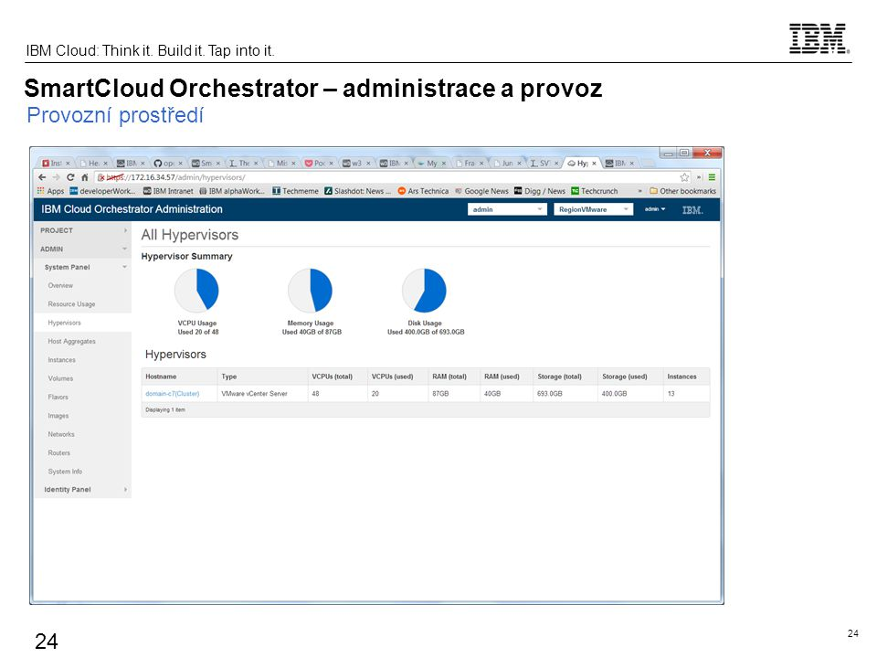 SmartCloud Orchestrator – administrace a provoz