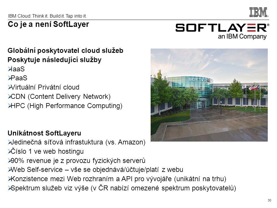 Co je a není SoftLayer Globální poskytovatel cloud služeb