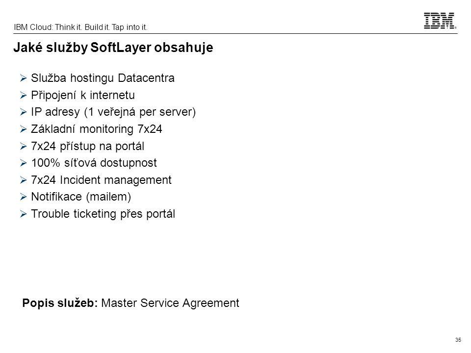 Jaké služby SoftLayer obsahuje
