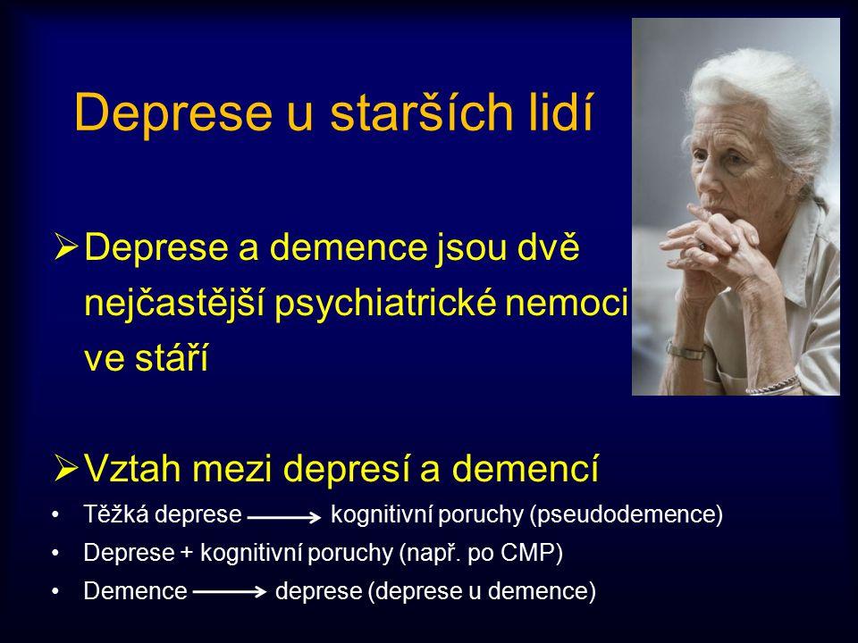Deprese u starších lidí