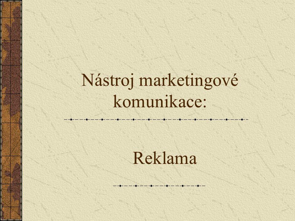 Nástroj marketingové komunikace: