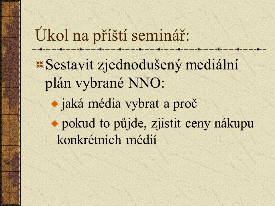 Úkol na příští seminář: