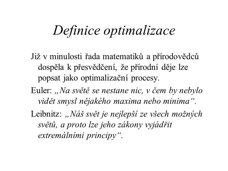 Definice optimalizace