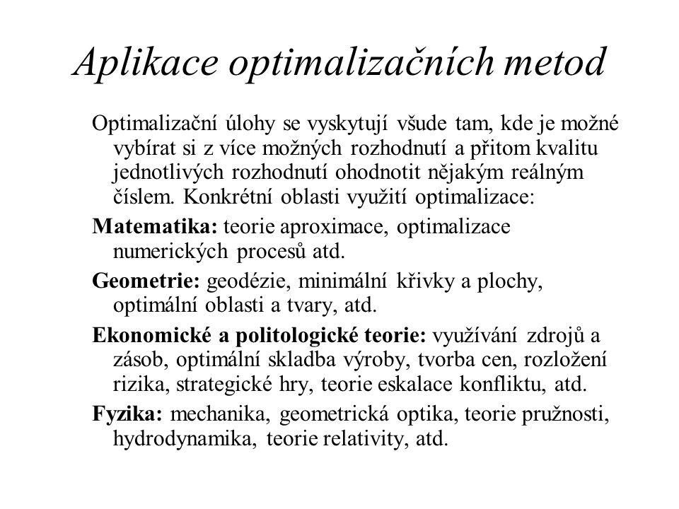Aplikace optimalizačních metod