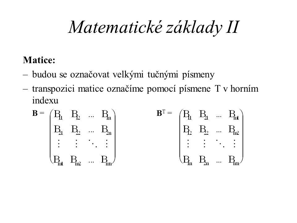 Matematické základy II
