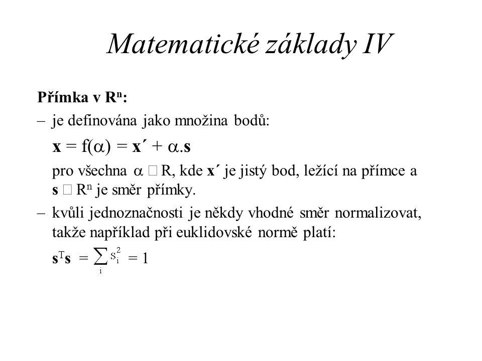 Matematické základy IV