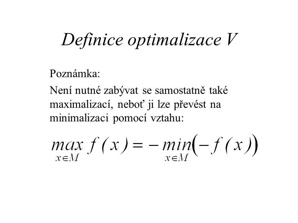 Definice optimalizace V