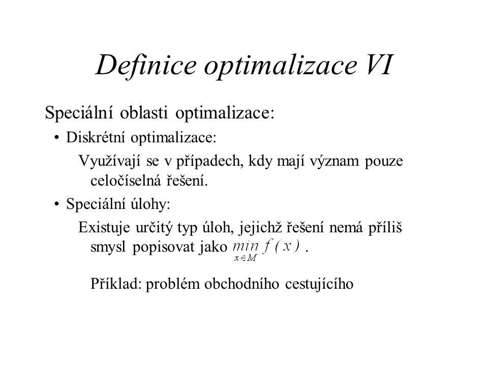 Definice optimalizace VI