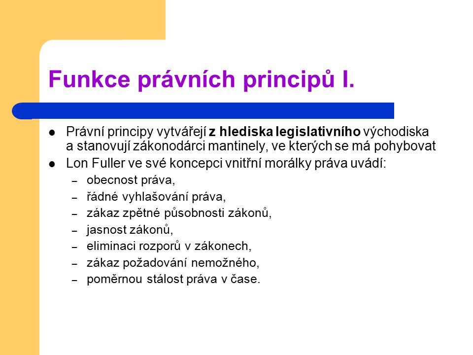 Funkce právních principů I.