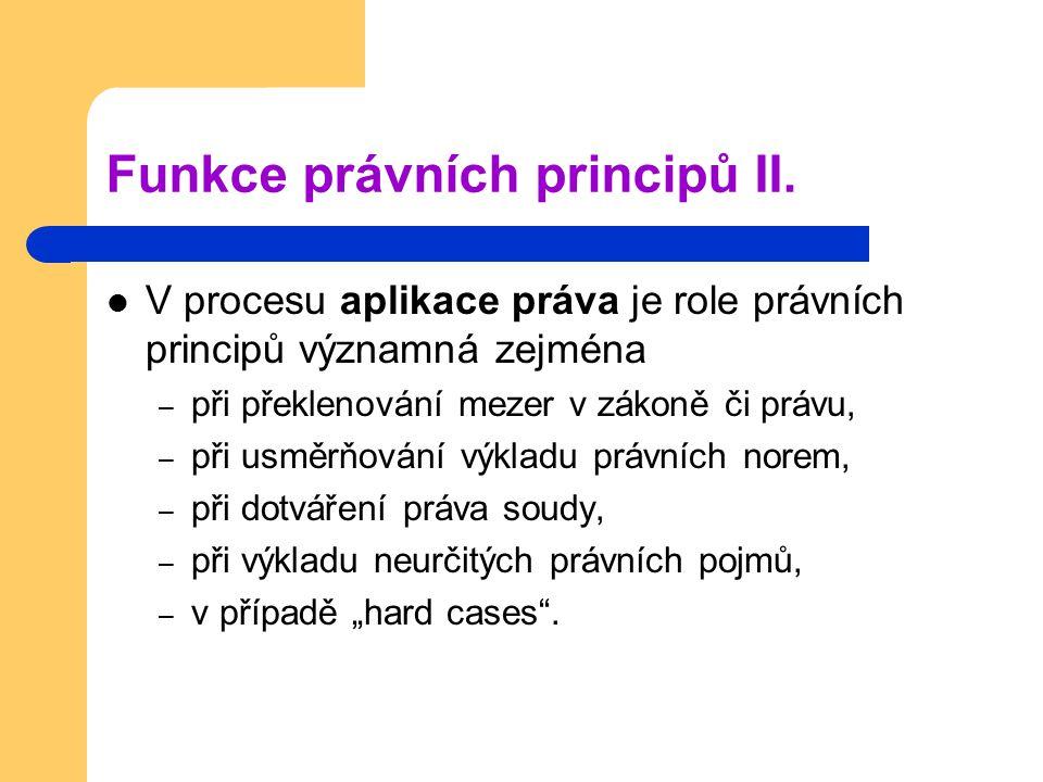 Funkce právních principů II.