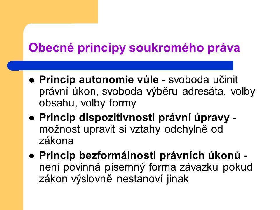 Obecné principy soukromého práva