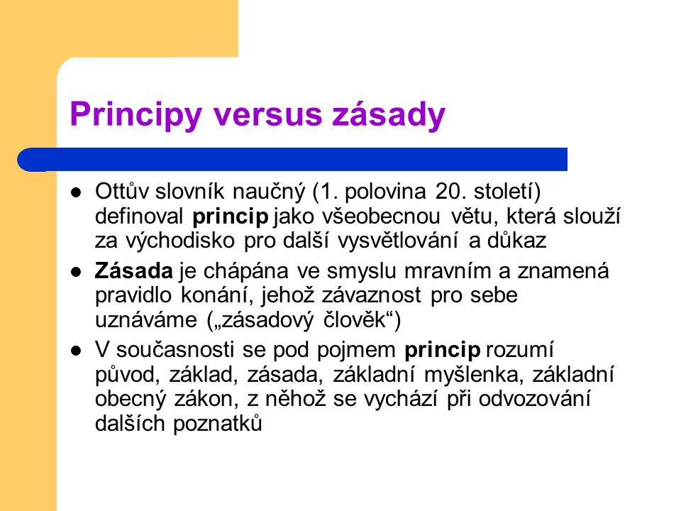 Principy versus zásady