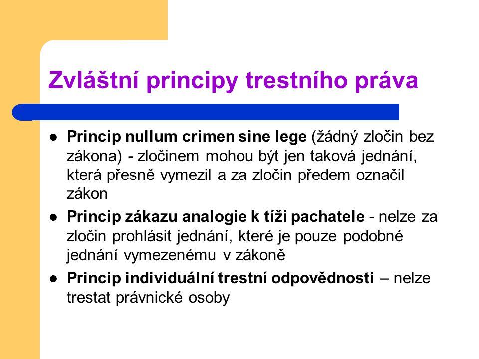 Zvláštní principy trestního práva
