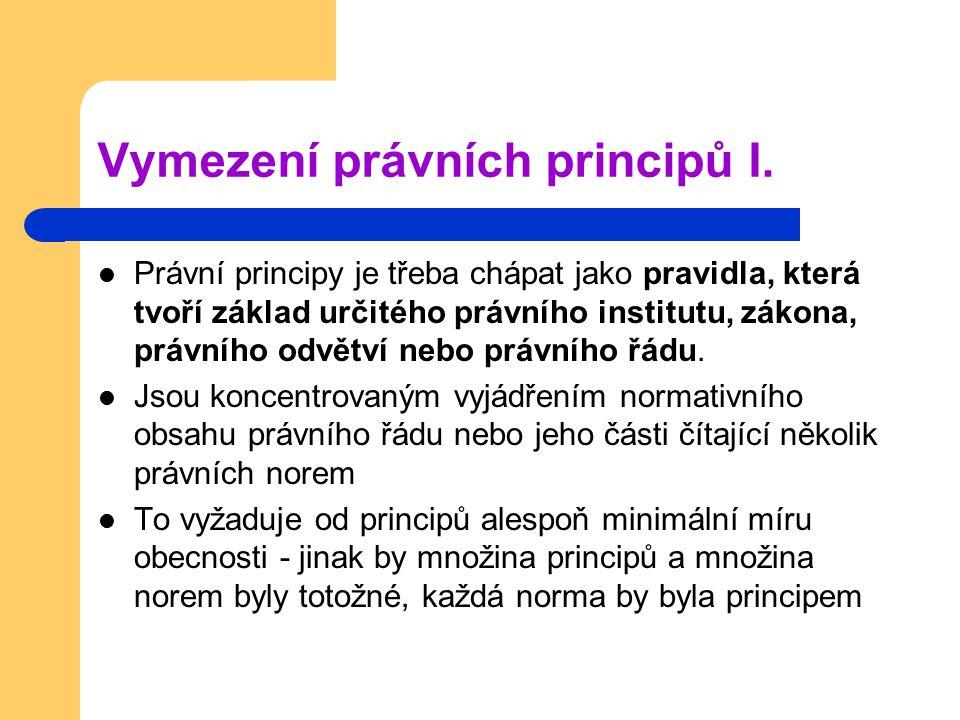 Vymezení právních principů I.