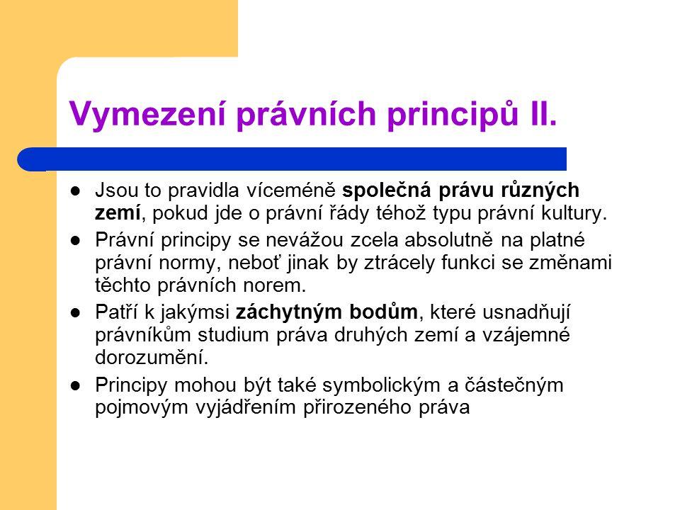 Vymezení právních principů II.