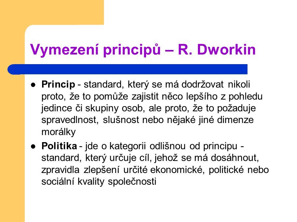 Vymezení principů – R. Dworkin
